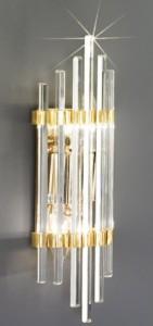 Applique murale verre de cristal et plaqué or Ontario 257,90 € sur Luminaire Deluxe