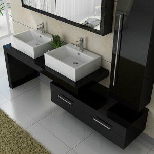 meuble-double-vasque-dis9350-noir